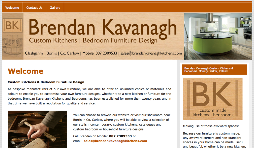 Brendan Kavanagh Kitchens, Carlow, Waterford, Wexford, Kilkenny, Dublin.