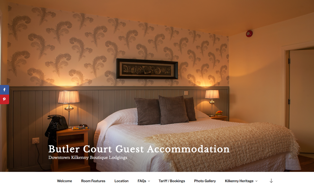 butler court guest accommodation, downtown kilkenny,