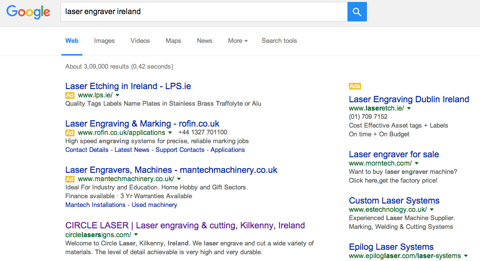 search engine optimisation, sep, Ireland