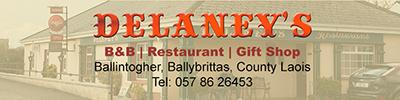 delaney's, B&B, restaurant, laois