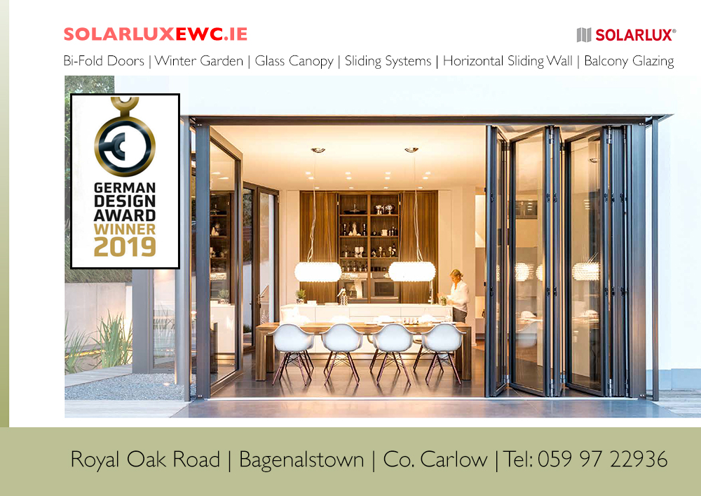 Solarlux, Ireland, bifold doors, sliding glass doors, balcony glass, glass conservatories,