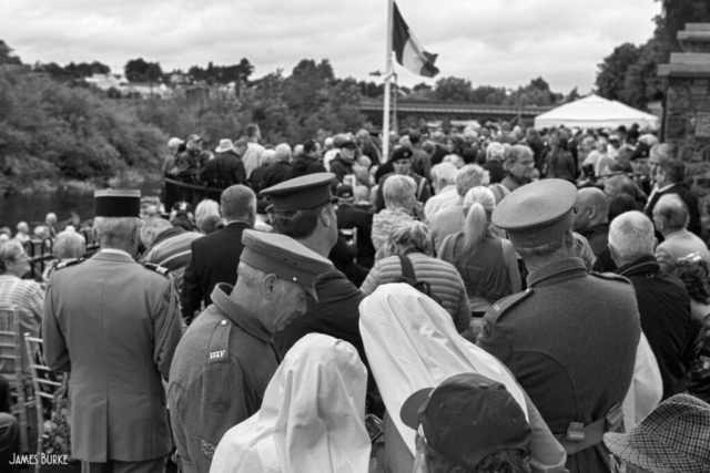 Soldiers & nurses. War memorial unveiling, Kilkenny.
